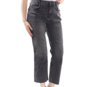 Free People Black Straight Jeans. Size: 30